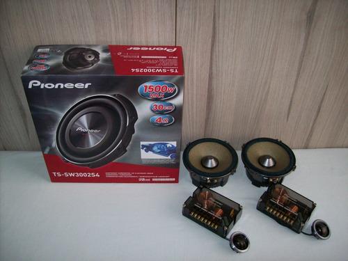 componentes pioneer ts-c171prs y subwoofer pioneer ib-flat