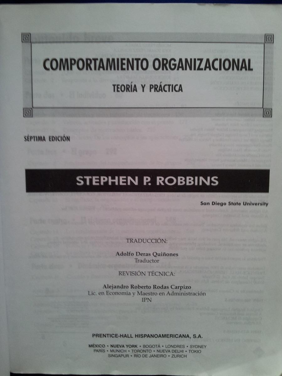libro comportamiento organizacional stephen robbins 17 edicion pdf gratis