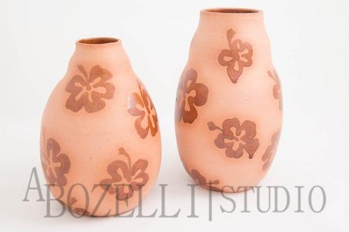 composé - vasos decorativos c/ desenhos de flores