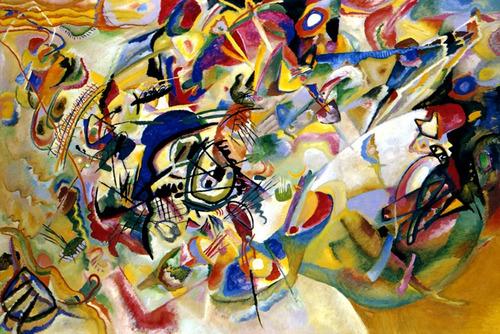 composição vii 1913 pintura abstrata kandisnky tela repro