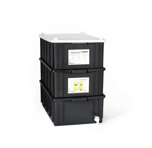 composteira doméstica / minhocário m - 39l - frete grátis!