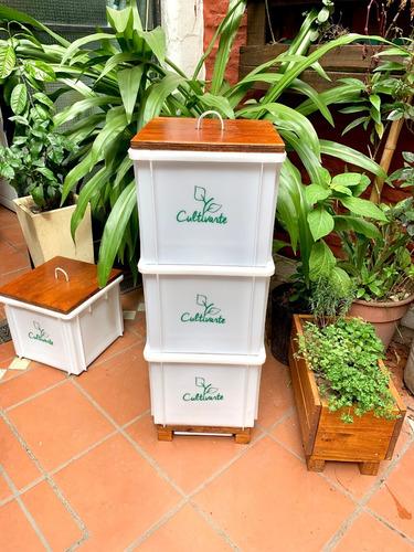 compostera 3 cajones plástico blanca (caba)