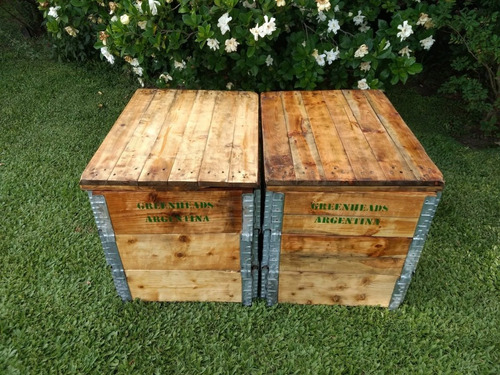 compostera de jardín 2 módulos 580lts - greenheads argentina