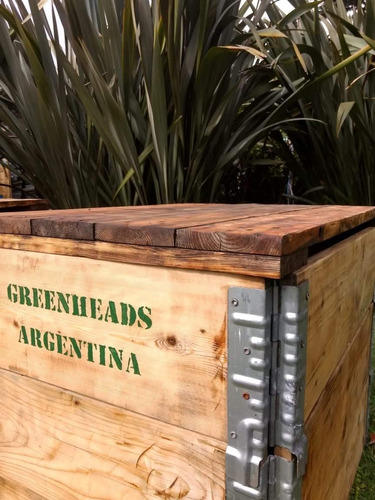 compostera de jardín 290lts - greenheads argentina