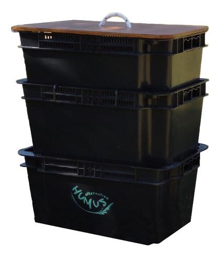 compostera doméstica a.humus con lombrices 80 litros mendoza