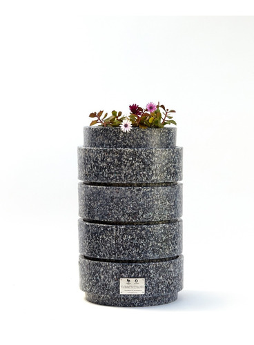 compostera plástico reciclado tapitas + lombrices + manual