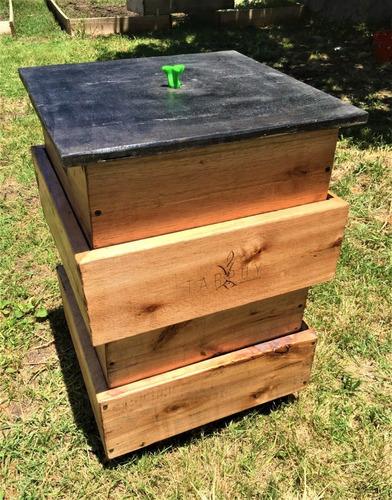 compostera tarpuy ichik 70 l madera int/jardín redcompostaje