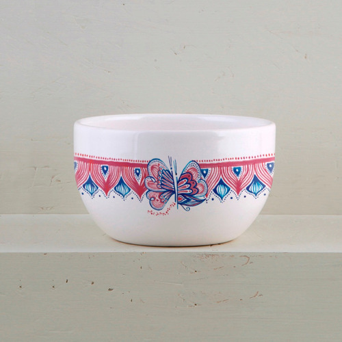 compotera bowl de diseño de cerámica decorada (x4)   cp