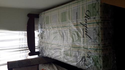compra cama 1.5 plazas + colchon semiortopedico