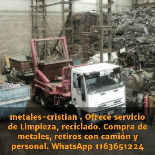 compra de chatarra/metales ferrosos y no fe, catálizadores