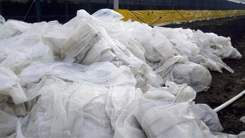 compra de cintilla y lona de invernadero para reciclaje