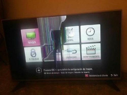 compra de televisores dañados