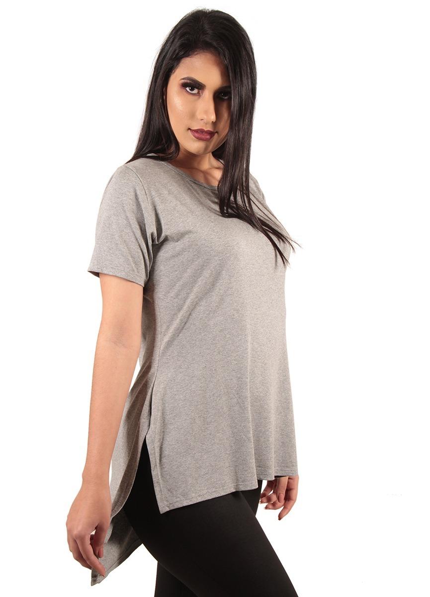 16e1989730794 comprar camisas blusas roupas femininas long line lisa. Carregando zoom.