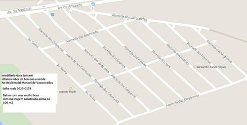 comprar terreno  residencial à venda, parque manoel de vasconcelos, sumaré. - te0478