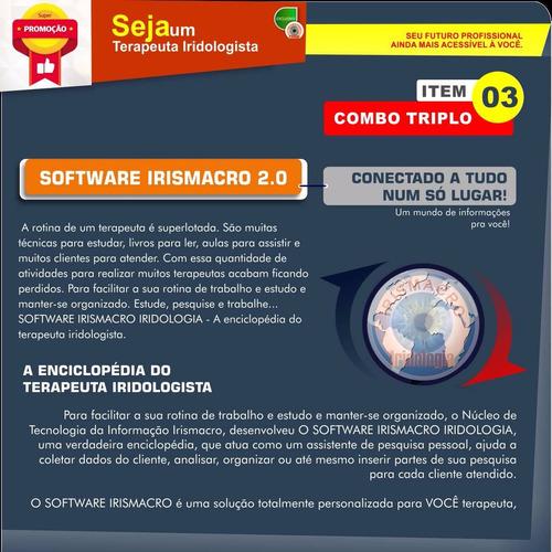 compre junto: aparelho usbm3 + software + curso iridologia
