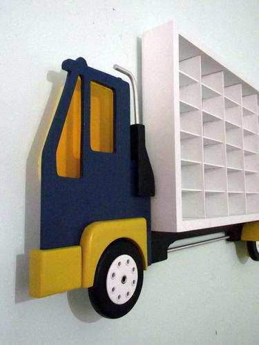 compre porta carrinho  hot wheels quarto menino 42 nichos
