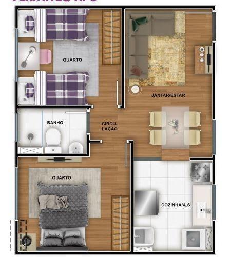 compre seu apartamento com parcelas a partir de 599