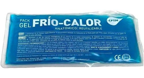 compresa pack gel frio calor 13x25 cm - local olivos