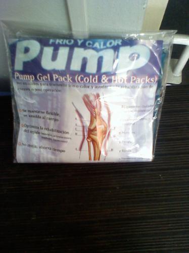 compresas frio calor  pump gel chica medida 24 cm x 14 cm