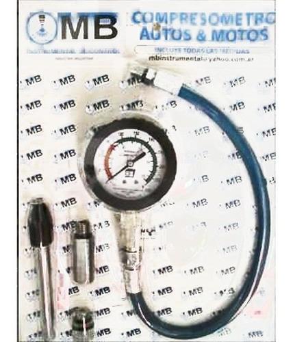 compresometro autos y motos profesional mb + dvd taller