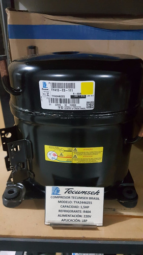 compresor 1.5 hp tecumseh r404a 220v tya2446zes congelación