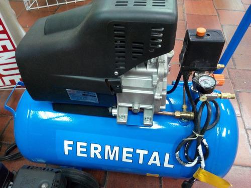 compresor 24 lts 2hp fermetal