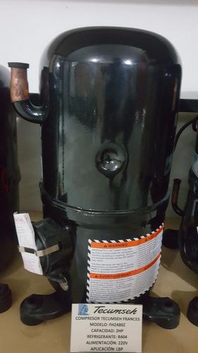 compresor 2hp tecumseh frances fh2480z r404a 220v nuevos