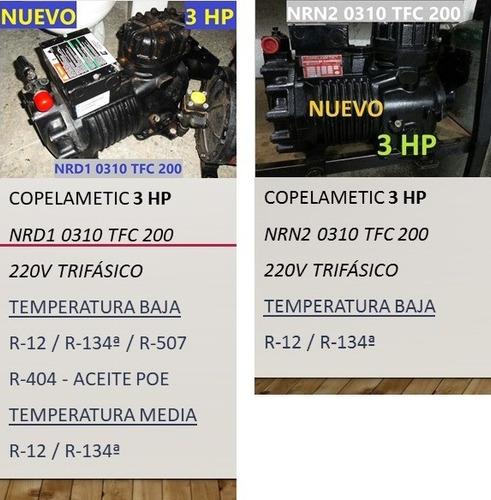 compresor 3hp 7.5hp 10hp 30hp copeland semi sellado