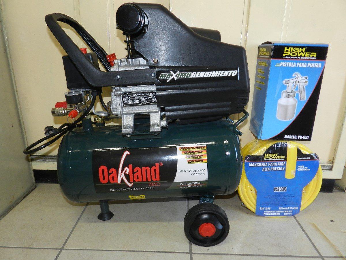 Compresor aire 2 5 hp 25 litros oakland aok ca 2525 dmm - Compresor de aire 25 litros ...