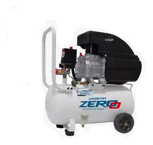 compresor aire 25 litros motor 2,5 hp con ruedas cadena zero