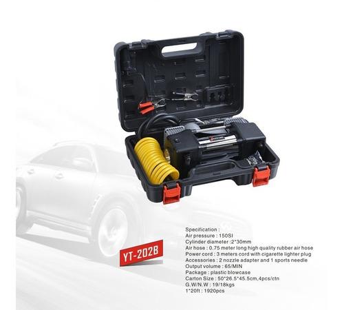 compresor aire doble piston auto camioneta inflador llanta