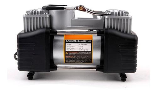 compresor aire doble piston cilindro 12v metal 4x4 auto 333