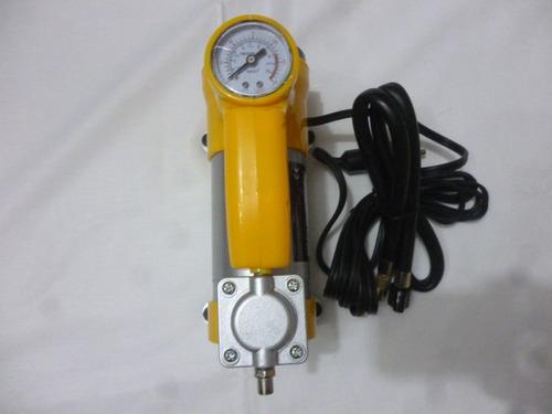 compresor aire + linterna inflador llanta autos portatil 12v