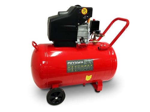 compresor aire miyawa 100l 2,5hp 8bar doble salida monofas.