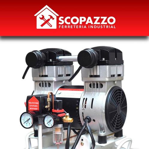 compresor aire odontologico 50 l 1,5hp silencioso sin aceite