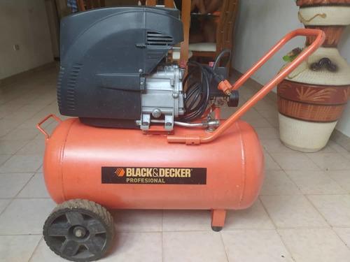 compresor black and decker 50 litros casi nuevo