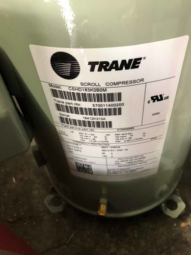 compresor com09868, marca trane modelo cshd183k0b0m