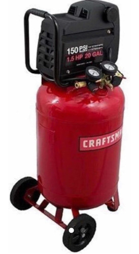 compresor craftsman de 1.5 hp, 20 galones, 150 psi