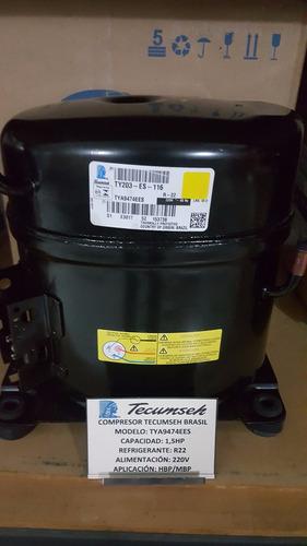 compresor de 1.5 hp tecumseh r22 220v tya9474ees nuevos
