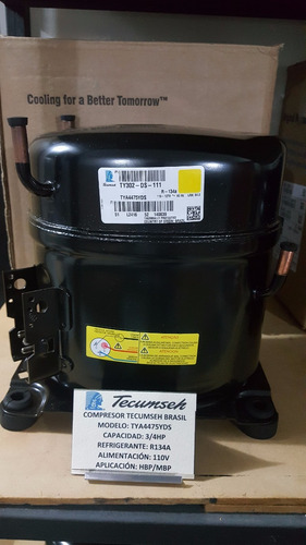 compresor de 3/4 hp tecumseh r134a 110v tya4475yds nuevos