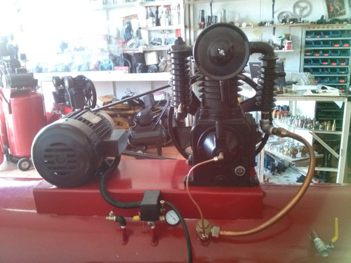 compresor de 5 hp motor de 5 hp trifasico tanque 500 lts