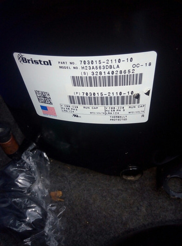 compresor de 5 toneladas de piston bristol copeland ph1 ph3