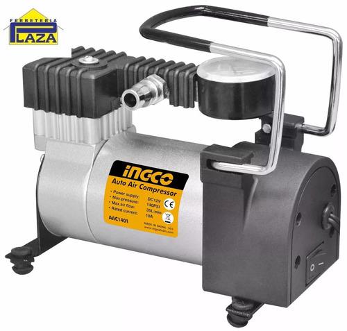 compresor de aire 12volt para auto ingco 140 psi ac1401