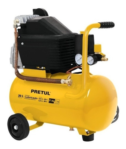 compresor de aire 20 litros 2 1/2 hp 1.875w 110 marca pretul