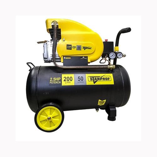 compresor de aire 2.5hp tan 50lt 200 lt/min  sk002 stanprof