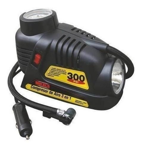 compresor de aire 3 en 1 12 volts 2 mangueras mikels