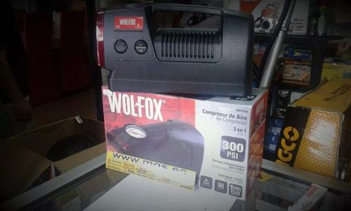 compresor de aire 3 en 1 300psi marca wolfox.