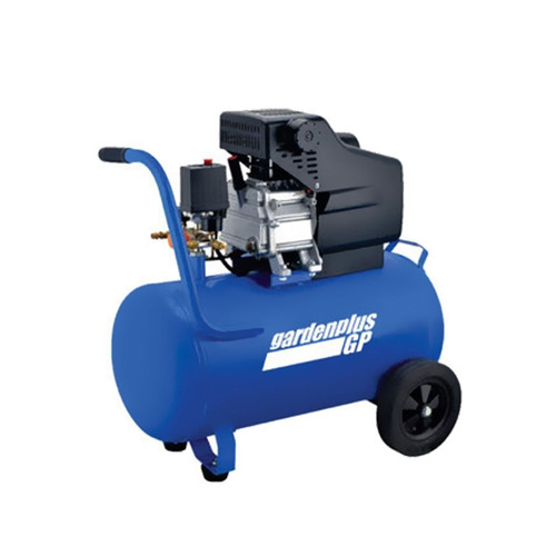 compresor de aire 50 litros 2.5hp portatil garden plus + kit