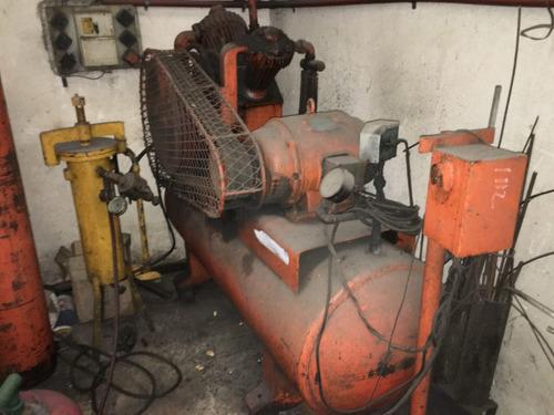 compresor de aire alta y baja marca imaco 10hp,c/pulmon 600l