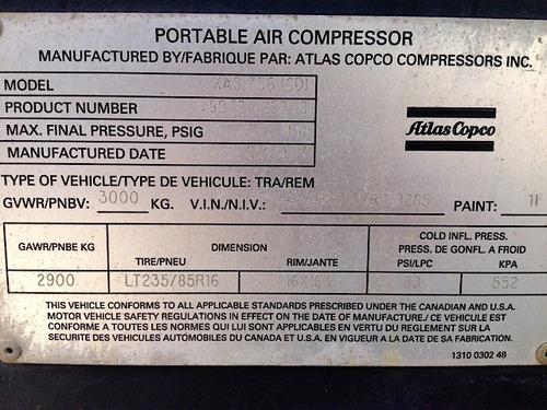 compresor de aire atlas copco 750 cfm motor cat, renta/venta